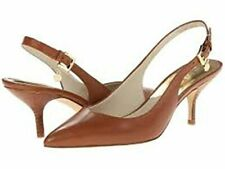 Michael Kors Michael Kelsey Kitten Sling Shoes Luggage Size 6