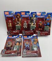 Masters of the Universe MOTU Mega Construx Heroes GPH66-71 Set All 5 Figures New