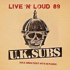 U.K. SUBS LIVE 'N' LOUD (AKA GREATEST HITS IN PARIS) (NEW/SEALED) CD