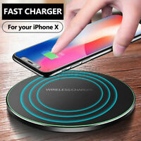 Ultra-Thin Wireless Qi Fast Charger Pad Dock For iPhone XS/XS Max/XR For