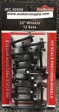 "InterMountain 40050 12 Pack 33"" Standard Tread HO Metal Wheel sets MODELRRSUPPLY"