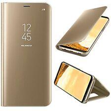 MP4 Telecom Coque à Rabat avec un Effet Miroir pour Samsung Galaxy S8 - Or