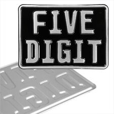 More details for novelty 7x5 german black silver motorcycle pressed number plate metal aluminium