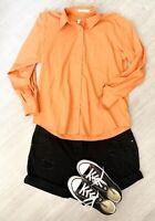 Orvis Orange Size 12 Shirt Long Sleeve Grunge 90s Wrinkle Free Blogger