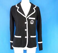 Sem Per Lei Ladies Club Blazer Jacket Black White Cotton Np 249 New