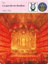 FICHE CARD La querelle des Bouffons Opéra de Paris de Giovanni Paolo Panini 90s