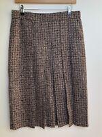 Skirtmasters Sydney Women Vintage Pleated Skirt Wool Blend Size 10