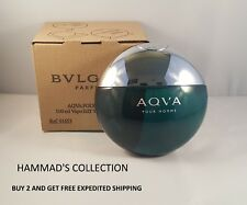 BVLGARI AQVA POUR HOMME MEN by BULGARI EDT Spray 3.4 oz (NEW IN TESTER BOX) AQUA
