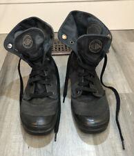 Palladium  Mens 02353060 Black Combat Baggy Lace UP High Top Boots SIze 10