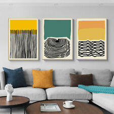 Yellow Green Modern Abstract Painting Canvas Poster Print Nordic Decoration