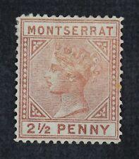 CKStamps: GB Montserrat Stamps Collection Scott#1 2 Mint H OG