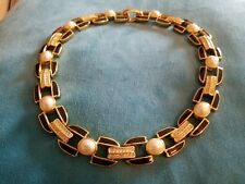German Made- Vintage Dior 18k Gold Plated and Pearl Necklace-Rare