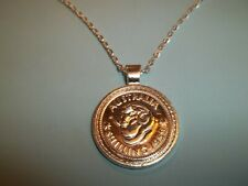 AUSTRALIAN SILVER SHILLING COIN - SILVER CASED NECKLACE - 1960 - 59th YEAR