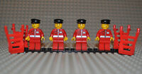 Lego 4x Figuren Post Office post010 + 4x Sackkarre 2495c01 aus Set 9348