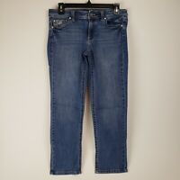 White House Black Market Women's Denim Slim Crop Pants (Size 4)