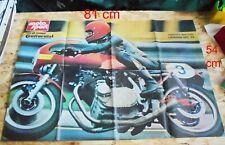 advertising Pubblicità POSTER - A. BRETTONI  LAVERDA 750 SFC '74 MAXIMOTO EPOCA