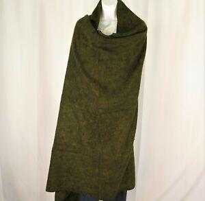 Blanket/Throw | Yak Wool Blend |Nepal |Handmade |Over-Sized | Emerald & Black