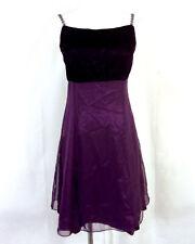 vintage années 80 zum VIOLET PROFOND / prune foncé velours gothique robe bal