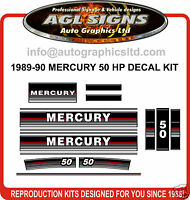 1989 - 1990 MERCURY 50 HP OUTBOARD DECAL KIT