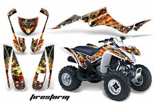 ATV Graphics Kit Decal Quad Wrap For Suzuki LTZ250 LTZ 250 2004-2009 FIRESTORM W