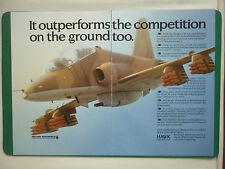 4/1984 PUB HAWKER SIDDELEY AVIATION HAWK RAF TRAINER ROLLS ADOUR ORIGINAL AD