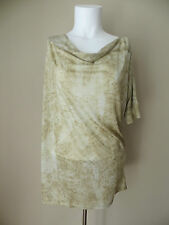 "MICHAEL KORS SOFT AND SLINKY COWELL NECK ""PUTTY"" TOP BLOUSE sz S, 55% OFF"