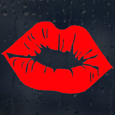 Red Sexy Kiss Lips Car Or Laptop Decal Vinyl Sticker For Window Colour Choice