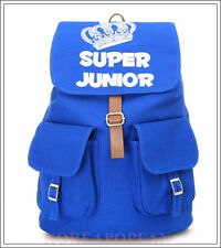 SUPER JUNIOR SUJU SJ KPOP LeeTeuk CANVAS SCHOOL BAG BACKPACK NEW