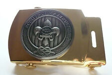 SCOUTS OF MALDIVES - YOUTH SCOUT MEMBER & LEADER OFFICIAL METAL BUCKLE