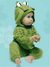 BABY/knitting pattern for   frog  jumpsuit  0/12months aran