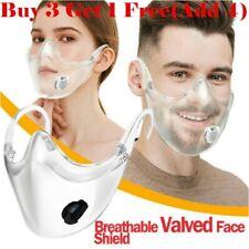 Durable Face Shield Half Face Visor Protection Combine Plastic Clear Reusable UK