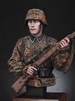 1/10 BUST Resin Figure Model Kit German Soldier Waffen-SS WWII WW2 Unpainted