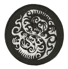 Patche écusson Ying Yang dragons thermocollant patch kung fu brodé