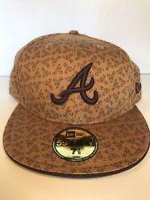 New Era Cap Hat Atlanta Braves size 7 7/8 - VINTAGE, VERY RARE & UNIQUE, NEW