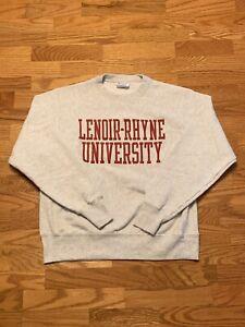 VTG Champion NCAA Lenoir Rhyne Bears Reverse Weave Crewneck Sweater Adult Medium