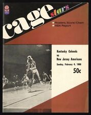 1967-68 NEW JERSEY AMERICANS @ KENTUCKY COLONELS ABA PROGRAM (2-4-1968) 1st YEAR