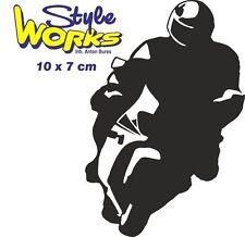 Autoaufkleber Sticker Motorrad Mopped Biker Auto ca 10 * 7 cm Motiv 03
