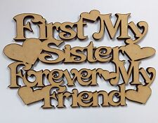 Sister Plaque Cut Out 140x90mm Wood wooden 3.2mm
