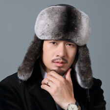 Winter men's Fur hat rex rabbit fur hat warm ear protection Cap Aviator/Trapper