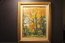 "William J. Schultz AIS, "" Autumn Maples In The Berkshires "", Oil On Board, 1973"