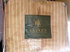 Vintage Ralph Lauren 52nd Street Caramel Tan King Bedskirt Sateen Cotton NWT