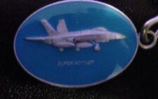 RAAF Super Hornet Fighter Jet  Enamelled Blue Key Ring