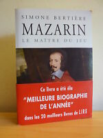 M*  MAZARIN Le maître du jeu * Simone Bertière