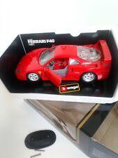BURAGO FERRARI F40 1987 SPORTS CAR  1/18