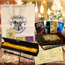 HARRY POTTER CHRISTMAS GIFT SET WAND & BOX ETC New