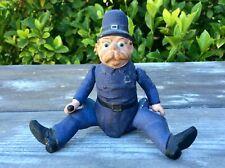 Antique Papier Mache Composition Palmer Cox Brownie Policeman Doll Xmas Ornament