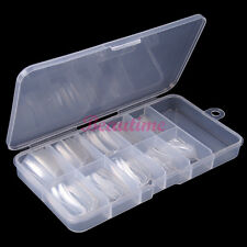 Boxed 100 PCS Clear Transparent False Acrylic UV Gel French Nail Art Half Tips