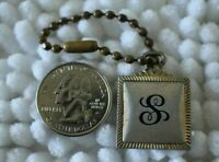 """Letter """"S"""" Initial Name Person Vintage Keychain Key Ring Sarah Smith Sam Sandy"""
