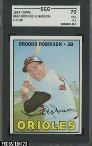1967 Topps #600 Brooks Robinson Orioles HOF HIGH# SGC 70 EX+ 5.5