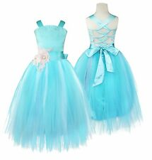 Blue Flower Girl Dress Communion Pageant Wedding Easter Christmas Party Prom12T